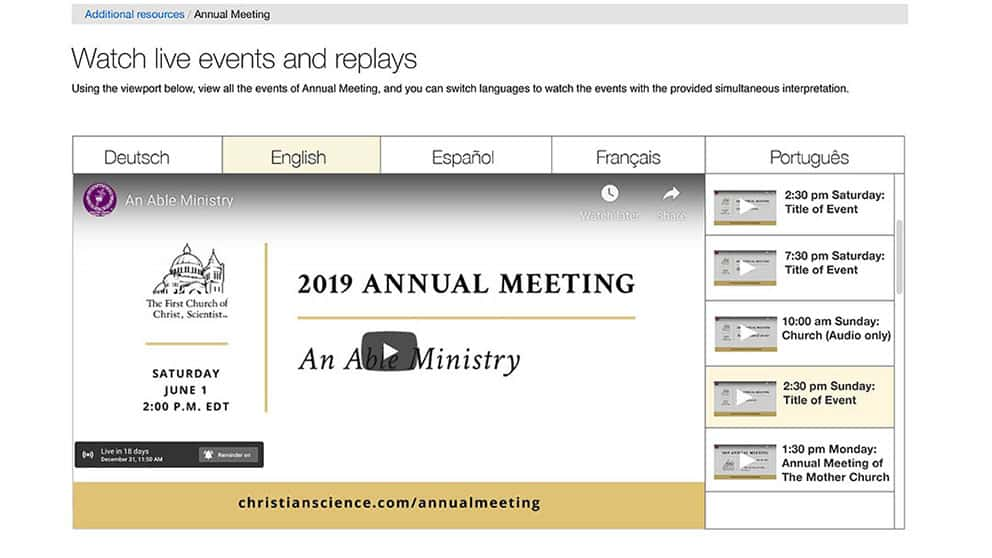 Annual Meeting player UI redesign